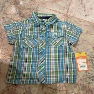 Baby plaid Sonoma top size 3-6 months -NWT